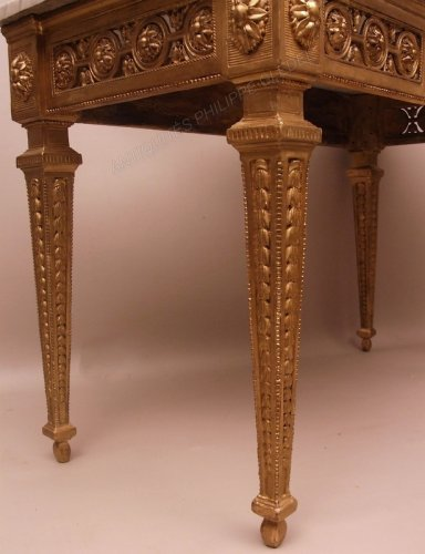 18th century - Console table in gilded wood attributed to Pierre Pillot - France Provence 18th century