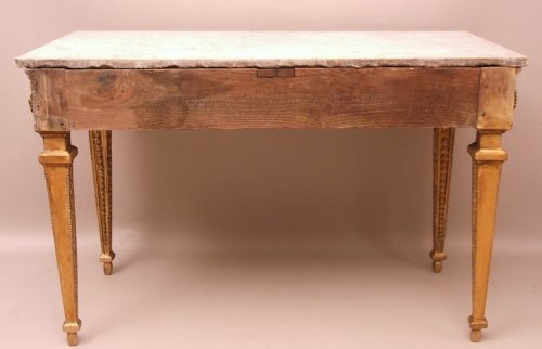 Louis XVI - Console table in gilded wood attributed to Pierre Pillot - France Provence 18th century