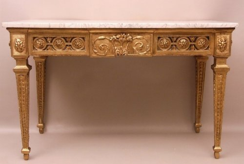 Antiquités - Console table in gilded wood attributed to Pierre Pillot - France Provence 18th century