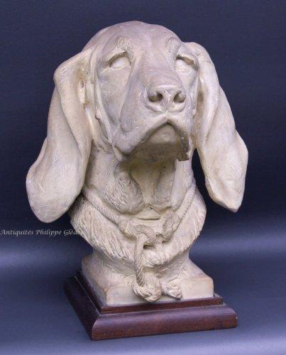 Sculpture  - Rare Saint-Hubert or Bloodhound sculpture by A. Cain