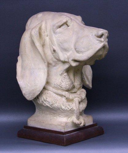 Rare Saint-Hubert or Bloodhound sculpture by A. Cain -