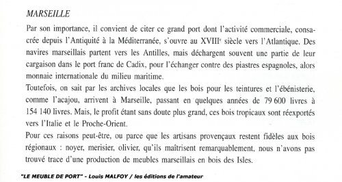 """Antiquités - Chest of drawers said """"de port"""" in solid mahogany, 18th century"""