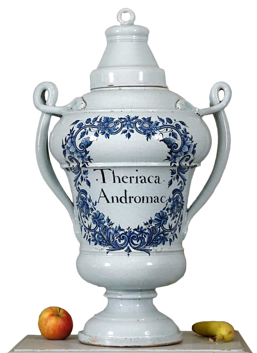 vase couvert d 39 apothicaire dit pot de montre aux serpents d 39 poque louis xiv xviiie si cle. Black Bedroom Furniture Sets. Home Design Ideas