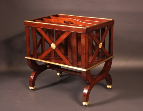 Rare small cabinet sheet holders Empire period