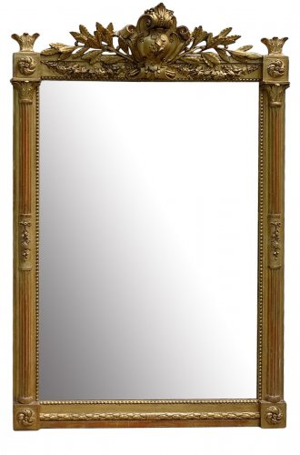 French Louis XVI style overmantle mirror