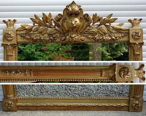 French Louis XVI style overmantle mirror - Mirrors, Trumeau Style Napoléon III