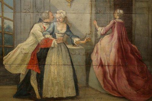 Paintings & Drawings  - 18th Century Chateau Wooden Door Top