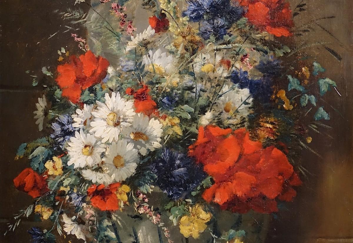 Très Bouquet de fleurs des champs - E. H. Cauchois (1850 - 1911) - XIXe  QS69