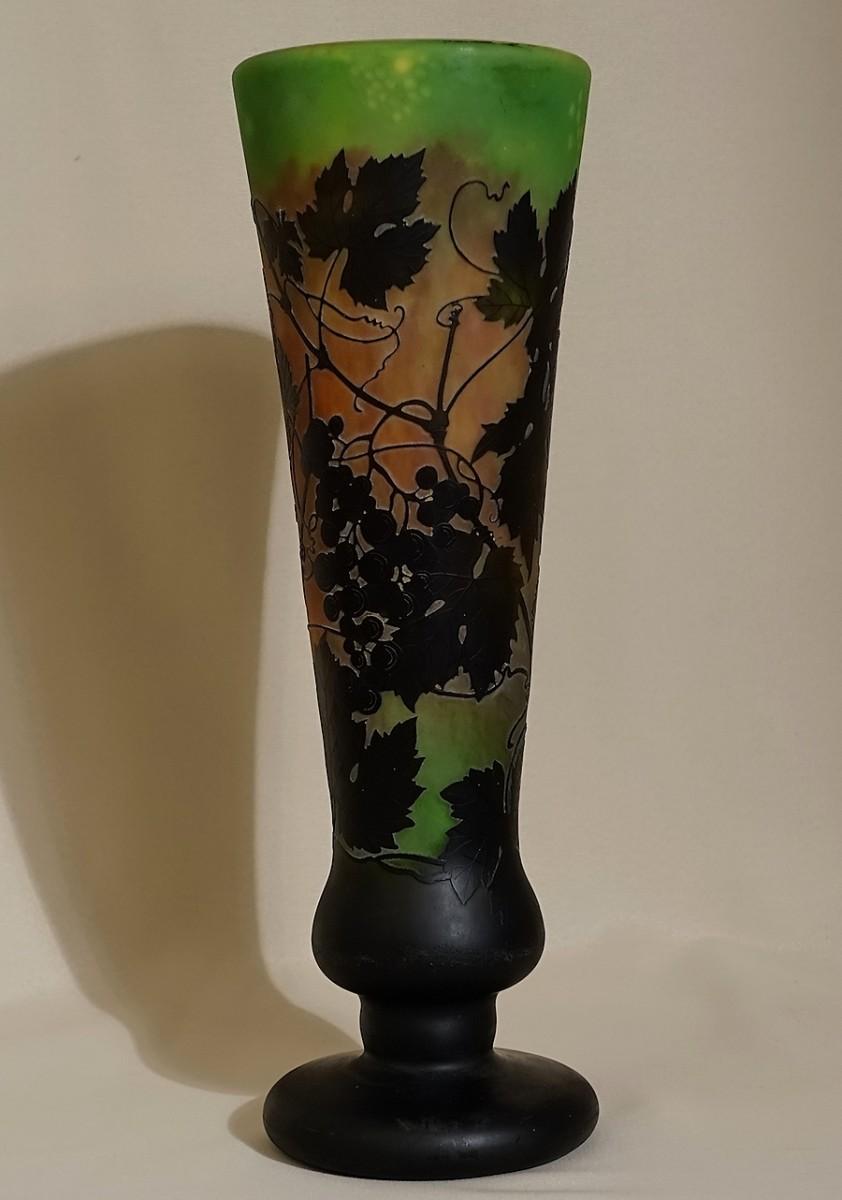 Daum Fr 232 Res 224 Nancy Large Multilayer Glass Vase Ref 68073