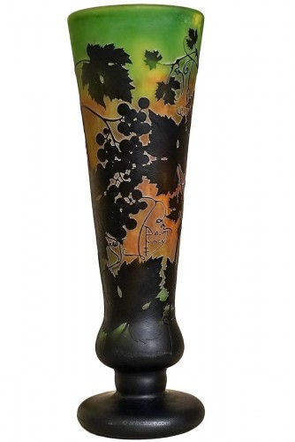 Daum frères à Nancy - Large multilayer glass vase