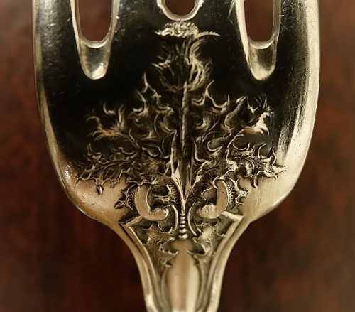 Art nouveau - Art nouveau cutlery set in solid silver