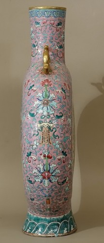 Large vase-gourd bianhu said Moon Flask, China, Guangxu, Qing dynasty -