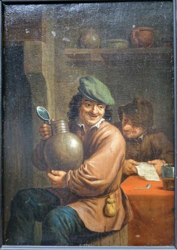Intimate scene - Flanders 17th century - Paintings & Drawings Style