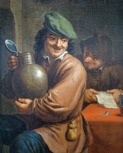 Paintings & Drawings  - Intimate scene - Flanders 17th century