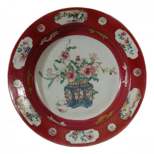 Chinese Yongzheng famille rose dish