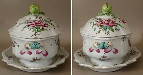 A mid 18th century Faience Terrine of Sceaux -