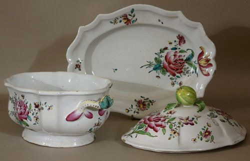 A mid 18th century Faience Terrine of Sceaux - Louis XV
