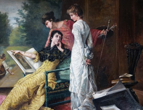 Paintings & Drawings  - Intimate scene  - French school of the late 19th century