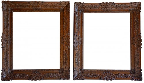 Important pair of Louis XIV Oak wood frames