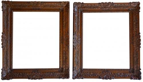 Important pair of Louis XIV Oak wood frames