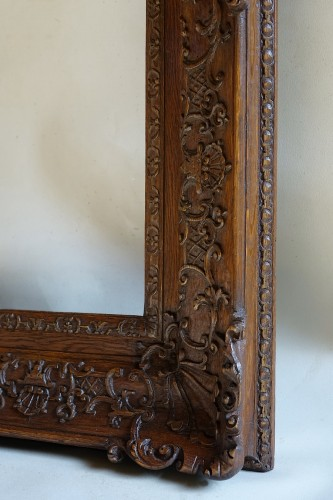 Important pair of Louis XIV Oak wood frames -