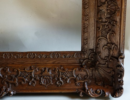 Important pair of Louis XIV Oak wood frames - Louis XIV