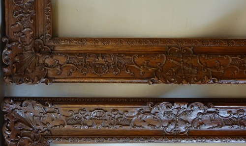 Louis XIV - Important pair of Louis XIV Oak wood frames