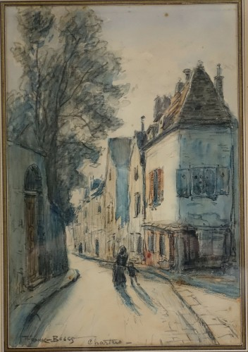 Frank Boggs - View of Chartres - Paintings & Drawings Style