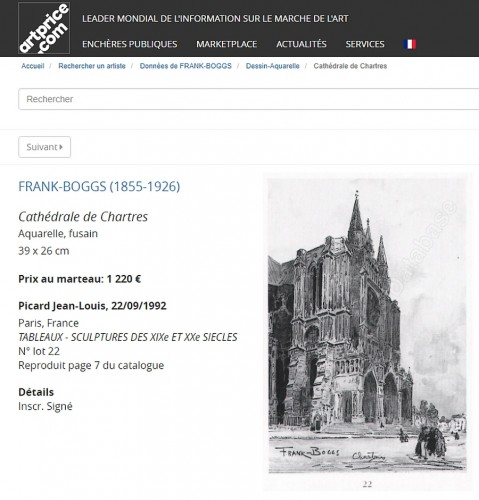 Frank Boggs - View of Chartres -