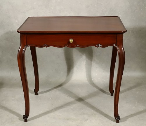 Louis XV cabaret table in solid mahogany - Bordeaux XVIIIth - Furniture Style Louis XV