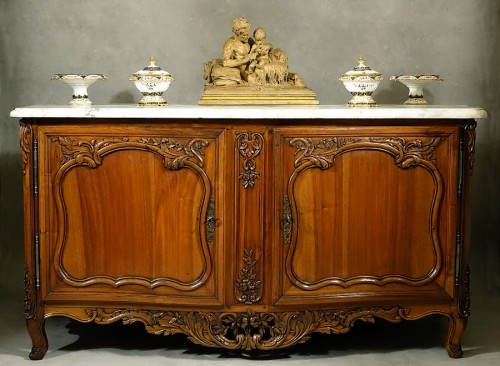 French Buffet de chasse, curved all sides - Aix-en-Provence 18th century - Furniture Style French Regence