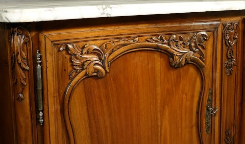 Antiquités - French Buffet de chasse, curved all sides - Aix-en-Provence 18th century