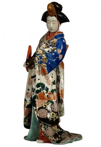 Meiji period Japanese porcelain samurai