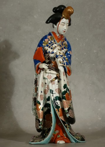 Meiji period Japanese porcelain samurai - Asian Works of Art Style
