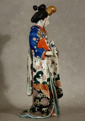 Asian Works of Art  - Meiji period Japanese porcelain samurai