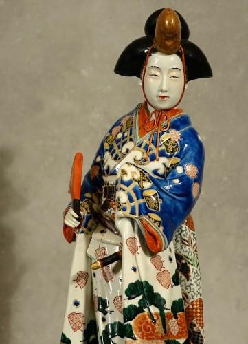 19th century - Meiji period Japanese porcelain samurai