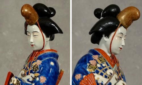 Meiji period Japanese porcelain samurai -