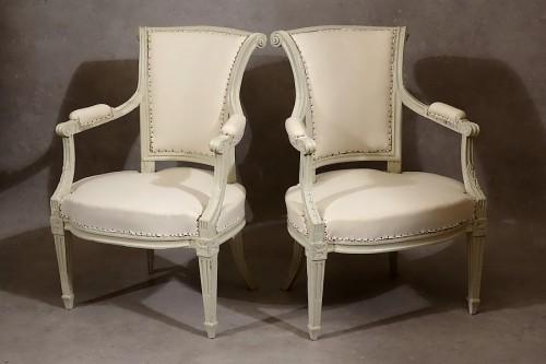Four Louis XVI armchairs by Pierre Pillot - Seating Style Louis XVI