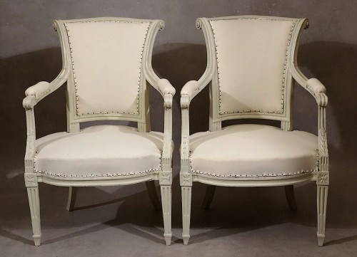 Seating  - Four Louis XVI armchairs by Pierre Pillot