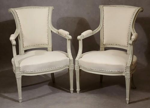 Four Louis XVI armchairs by Pierre Pillot -