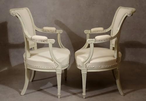 Four Louis XVI armchairs by Pierre Pillot - Louis XVI