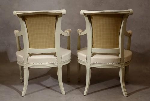 Louis XVI - Four Louis XVI armchairs by Pierre Pillot