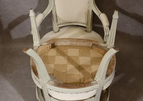 Antiquités - Four Louis XVI armchairs by Pierre Pillot