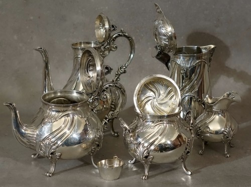 19th century - Large chocolate coffee tea set 5 pieces - Goldsmith Alexandre Vaguer