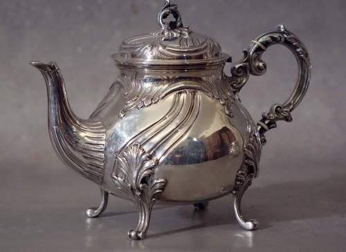 Antiquités - Large chocolate coffee tea set 5 pieces - Goldsmith Alexandre Vaguer