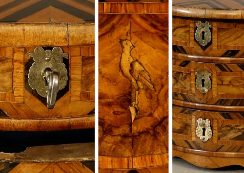 "18th century - Chest of drawers ""de maîtrise"" of the 18th century in Coromandel"