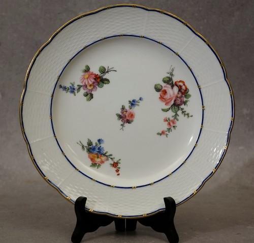 "Six ""wicker"" plates - Sèvres 18th century -"