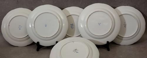 "18th century - Six ""wicker"" plates - Sèvres 18th century"