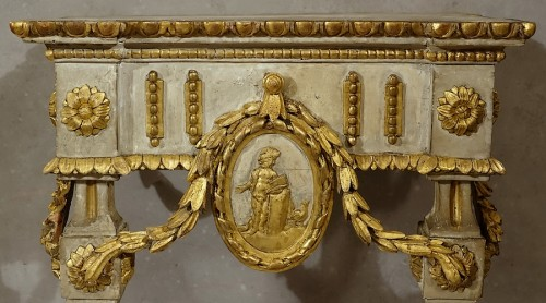 Furniture  - Small neoclassical console table - Piedmont 18th century