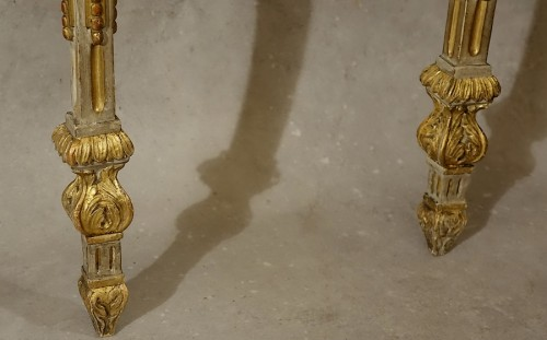 18th century - Small neoclassical console table - Piedmont 18th century